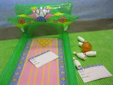 STACIE JANET WHITNEY Doll BOWLING PARTY BLOW UP ALLEY BALL PINS SCORE SHEET SET