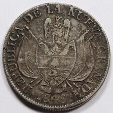 Colombia Nueva Granada 1848 10 Reales 25 Gram Silver Coin VF KM#107 Toned RARE