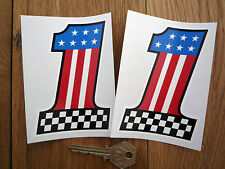 "USA NO 1 alterno ADESIVI 4 ""COPPIA HARLEY Corvette Mustang AMERICAN HOT ROD trascinare"