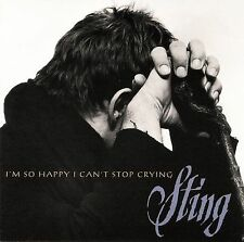Sting I'm So Happy I Can't Stop Crying 4TRACK Single Rock Pop w/Desert Moon MORE