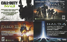DLC Exclusive downloadable content Game Code Card Microsoft Xbox 360 Live 8 pack