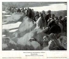 Franz Lippisch schlafende Menschen auf der Traumbrücke Histor. Kunstdruck 1906