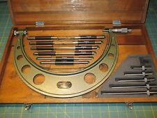 """MACHINIST TOOLS * OUTSIDE MICROMETER * MITUTOYO * 6-12"""" * 104-138 * .001"""
