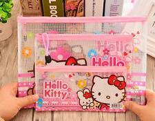 3pcs Hello Kitty A5+A4+Pencil Bag Office Notes Check Files Bag Organizer Folder