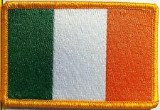 IRELAND Flag Patch with VELCRO® brand fastener Military Tactical Gold Emblem #8