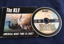 KLF AMERICA WHAT TIME IS LOVE CD SINGLE