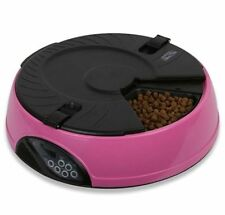 Automatic Timer Control Pet Feeder for feeding cats and dogs timely PINK