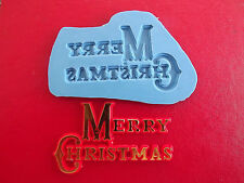 Merry Christmas Motto silicone mould cake decorating food grade