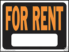 "FOR RENT 8"" x 12"" plastic SIGN indoor outdoor Rental house Apartment HY-KO 3005"