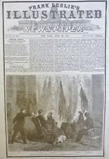 ABRAHAM LINCOLN ASSASINATED 1865 PRESIDENT APRIL 29 ILLUSTRATED OLD NEWSPAPER
