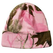 "Pink Camo Camouflage Realtree AP All Purpose Beanie Hat 12"" With Cuff Hunting"