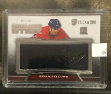 2015-16 Leaf Stickwork /40 Game Used Stick Of Brian Bellows 7/40 15/16 ITG !!!!!