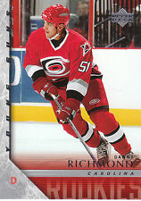 05-06 UPPER DECK YOUNG GUNS ROOKIE RC #475 DANNY RICHMOND HURRICANES *17177