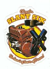 CHRYSLER SLANT SIX ENGINE Sticker Decal
