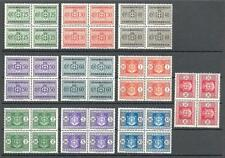 Italy 1945 Sc# J44-53 Arms Postage due no watermark blocks 4 MNH