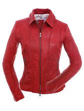 Milestone Damen Lederjacke Annalena in Rot in Gr.36 Einzelteile -reduziert