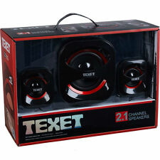 HIGH QUALITY USB SOUND TEXET 2.1 HIGH DENSITY CHANNEL SPEAKER SYSTEM SET