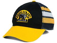 Boston Bruins New NHL Jersey Hook Mesh Flex Fit Hat Cap-Small/Medium S/M $27
