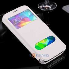 For Samsung Galaxy Phones Magnetic View Window Flip Case KickStand Leather Cover