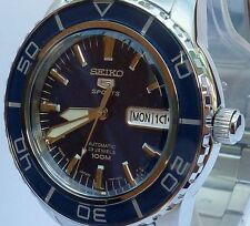 SEIKO 5 SPORTS NEW MENS AUTOMATIC SUBMARINER 100m WATCH SNZH53J1. MADE IN JAPAN