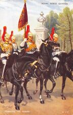ROYAL HORSE GUARDS~CHANGING THE GUARD~CONRAD LEIGH ARTIST UK MILITARY POSTCARD