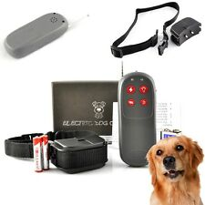 4 In 1 Remote Training Shock Vibrate Collar Trainer Safe For Pet M/L Dog