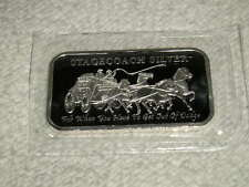 1-Troy Lb .999 Fine Silver 12 Sealed Stagecoach Bullion Bars! ~Must Read Listing