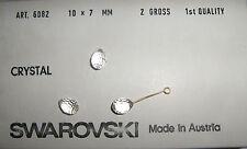 SWAROVSKI ® -Ovale Mezzo Foro 10 Pz  6082-10x7 mm. Clear Crystal Original 6002