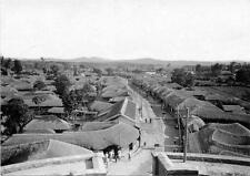 Photo. 1910s. Suwon, Korea.  Sky View of Main Street