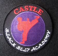 BLACK BELT ACADEMY EMBROIDERED SEW ON ONLY PATCH CASTLE KARATE MARTIAL ARTS