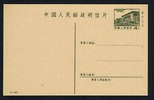 """P R CHINA 1977 """"The Great Hall Of The People"""" Postal Card MNH"""