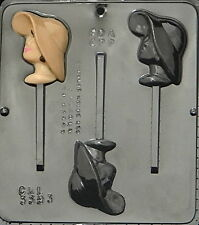 Girl with Hat Lollipop Chocolate Candy Mold  3393 NEW