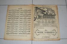 Spartito IL MANDOLINO 1921 NOZZE D'ARGENTO Gilardenghi chitarra Liberty mandolin