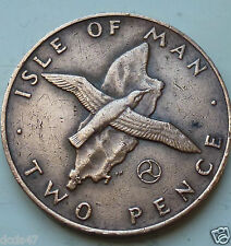 Isle of Man Manx 1979 2p Two Pence Manx Shearwater over Island coin hunt