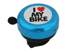 I LOVE MY BIKE BLUE BICYCLE BELL RINGER KIDS BIKE