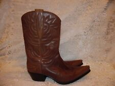"""GUESS By Marciano Brown Leather """"PUNK"""" Cowboy Western Womens Boots Size 7.5 M"""
