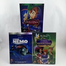 SALE! Disney TRIPLE PACK! Finding Nemo , Peter Pan AND Return to Neverland DVDs