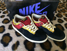 PRE-OWNED Nike SB Dunk Low Premium SZ 8.5 Snake Goldenrod 313170-701 SUPREME