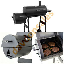 BBQ Grill Offset Smoker Charcoal Pit Outdoor Cooker Wood Patio Cooking Barbeque