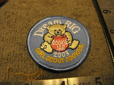 Girl Scouts Dream Big 2003 Girl Scout Cookies  Cookie Jar Cloth Patch