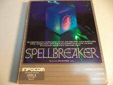Extremely Rare SPELLBREAKER Commodore Amiga Game by Infocom VG with Badge!!
