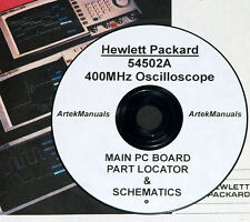 HP 54502A 400MHz Oscilloscope. Schematics and Board Overlay