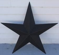 "36"" Black Metal Barn Texas Star Rustic Tin Country Primitive Americana New"