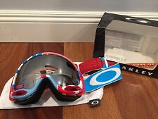 NEW Oakley A-Frame 2.0 Goggle Red White Blue Prizm Black Iridium MSRP $160 Asian