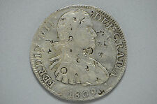 1809 MO Spanish Silver 8 Reales Mexico Mint Amazing Chopmarks (cn1823)