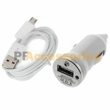 Car Charger Adapter +Micro USB Data Cable for Sony Xperia Z Z1 Z2 M ZL SP ZR LTE