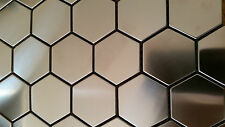 MosaicTile Sheets Stainless Steel,Hexagon, 300X300, Feature Wall, Splashback