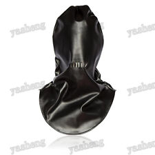 Quality Soft PU Leather Full covered Mask Hood Harness Restraint gimp