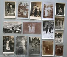 15 Fotos PAREJAS DE LAS MUJERES antiguo carácter 10-40s Años 14x9 Arte la real