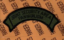 US Army Joint Security Area Pan Mun Jom JSA OD Green & Black BDU scroll patch